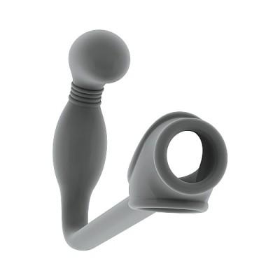 Plug y anillo para pene SONO N. 2 GRIS