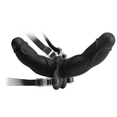 CONSOLADOR ARNES DOUBLE DELIGHT STRAP-ON Negro 11.5 cm