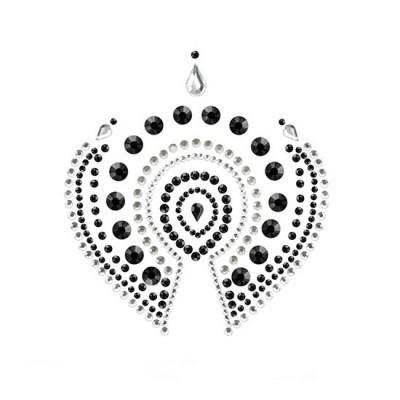 Joyería adhesiva negro plata FLAMBOYANT