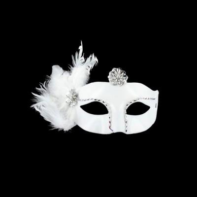 mascara veneciana color blanco