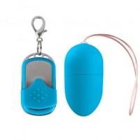 Huevo Vibrador 10 Velocidades Control Remoto Azul