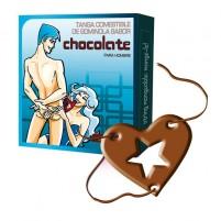 Tanga comestible sabor chocolate (hombre)